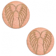 Houten cabochon angel wings 12mm Rosegold