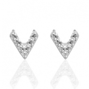 Trendy oorbellen studs arrow Silver