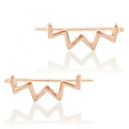 Trendy oorbellen earline zigzag Rosegold