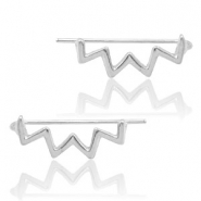 Trendy oorbellen earline zigzag Silver