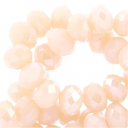 Top Facet kralen 4x3 mm disc Peach-pearl diamond coating