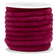 Trendy gestikt velvet koord 6x4mm Yarrow purple
