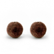 Velvet pompom kralen 6mm Chocolate brown