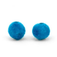 Velvet pompom kralen 6mm Light blue