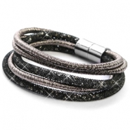 Trendy armbanden sparkle & shine Anthracite-black