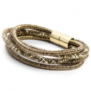 Trendy armbanden sparkle & shine Ginger golden red-silver