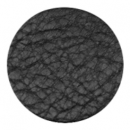DQ leer cabochons 35mm Midnight black
