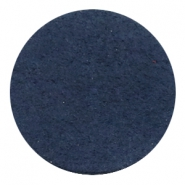 DQ leer cabochons 35mm Dark denim blue