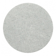 DQ leer cabochons 35mm Light grey