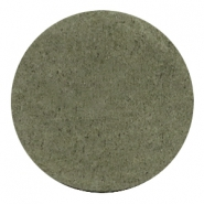 DQ leer cabochons 35mm Dark olive green