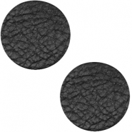 DQ leer cabochons 20mm Midnight black