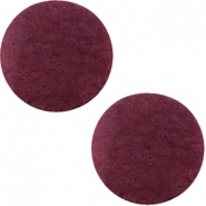 DQ leer cabochons 20mm Light aubergine red