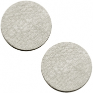 DQ leer cabochons 20mm Graphite grey