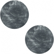DQ leer cabochons 12mm Antracita black
