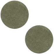 DQ leer cabochons 12mm Dark olive green