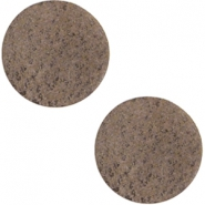 DQ leer cabochons 12mm Chocolate brown