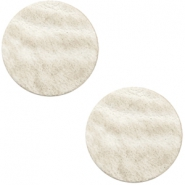 DQ leer cabochons 12mm Country grey