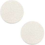 DQ leer cabochons 12mm Off white