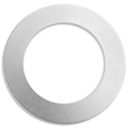 ImpressArt stamp labels ring 38mm aluminium Zilver