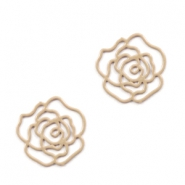 Tussenstukken bohemian rose 10mm Toast brown