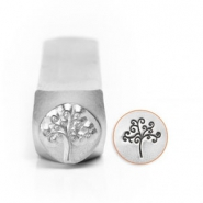 ImpressArt figuur stempels tree of life 9.5mm Zilver