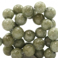 8 mm natuursteen kralen rond Jade Green-grey
