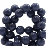 8 mm natuursteen kralen rond Jade Dark midnight blue