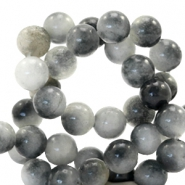 6 mm natuursteen kralen rond Jade Mixed grey