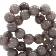 6 mm natuursteen kralen rond Jade Dark brown grey