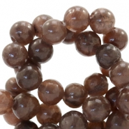 6 mm natuursteen kralen rond Chocolate brown
