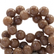 6 mm natuursteen kralen rond Jade Chesnut brown