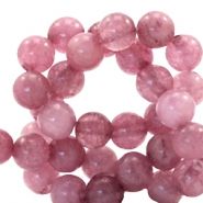 6 mm natuursteen kralen rond Dark autumn rose