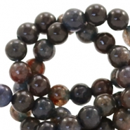 4 mm natuursteen kralen rond Jade Anthracite-dark brown