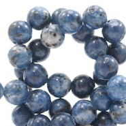 4 mm natuursteen kralen rond Jade Mixed denim blue
