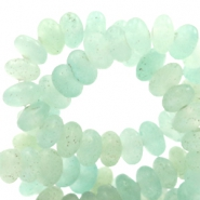 4 mm natuursteen kralen disc Light turquoise green