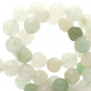 4 mm natuursteen kralen rond agaat Multicolour light green