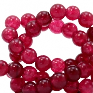 4 mm natuursteen kralen rond Jade Soft ruby red