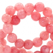 4 mm natuursteen kralen rond Red Stone Coral berry rose