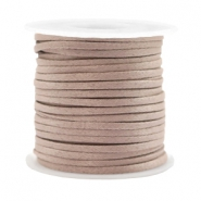 Trendy plat koord silk style 2mm Rose taupe
