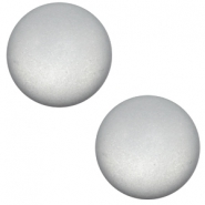 7 mm Classic cabochon Super Polaris matt Pewter grey