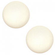 12 mm Classic cabochon Super Polaris matt Cloud cream white
