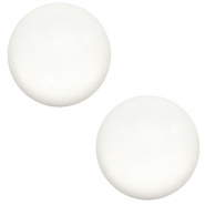 12 mm Classic cabochon Super Polaris matt White