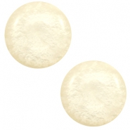 12 mm Classic cabochon Polaris Elements Mosso shiny Cloud cream white
