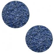 12 mm platte cabochon Polaris Elements Goldstein Cobalt blue