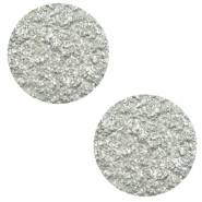 12 mm platte cabochon Polaris Elements Goldstein Pewter grey