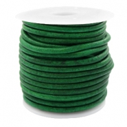 DQ leer rond 3 mm Vintage classic green