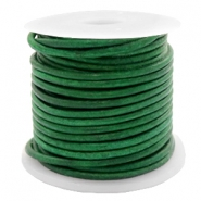 DQ leer rond 2 mm Vintage classic green