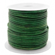 DQ leer rond 1 mm Vintage classic green