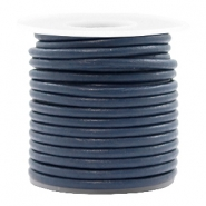 DQ leer rond 3 mm Navy blue
