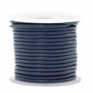 DQ leer rond 2 mm Navy blue